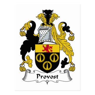 Escudo de la familia del preboste tarjeta postal