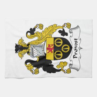 Escudo de la familia del preboste toalla de mano