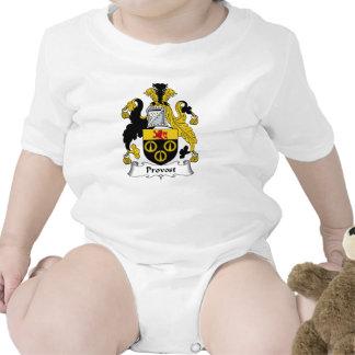 Escudo de la familia del preboste trajes de bebé