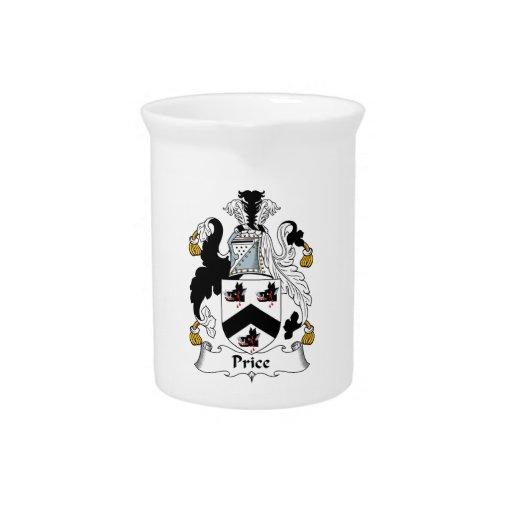 Escudo de la familia del precio jarras