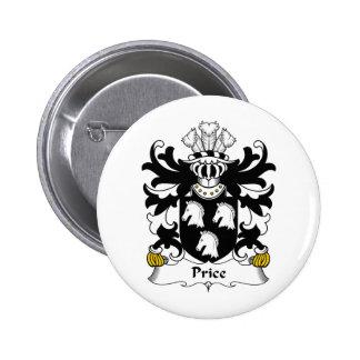 Escudo de la familia del precio pin redondo de 2 pulgadas