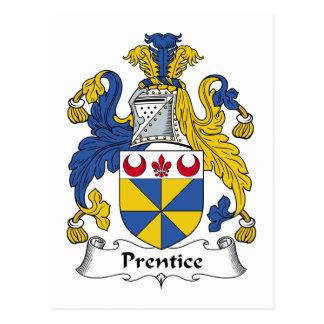Escudo de la familia del Prentice Tarjetas Postales