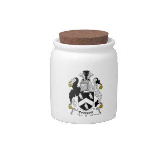 Escudo de la familia del Prescott Jarras Para Caramelos