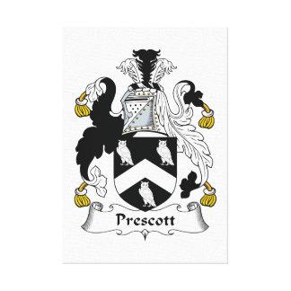 Escudo de la familia del Prescott Lona Envuelta Para Galerias