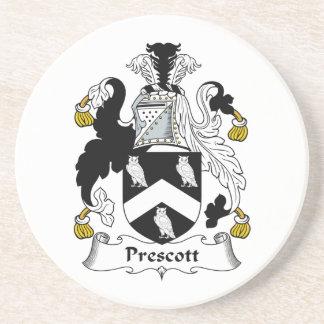 Escudo de la familia del Prescott Posavasos Manualidades