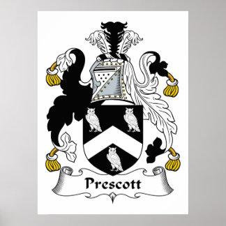 Escudo de la familia del Prescott Poster