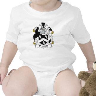 Escudo de la familia del Prescott Traje De Bebé