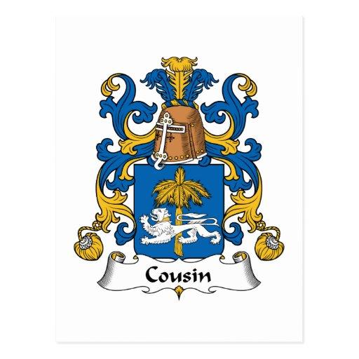 Escudo de la familia del primo tarjeta postal