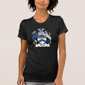Escudo de la familia del puerto camisetas