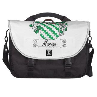 Escudo de la familia del puerto deportivo bolsas para portátil