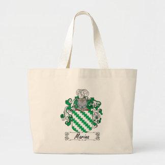 Escudo de la familia del puerto deportivo bolsas