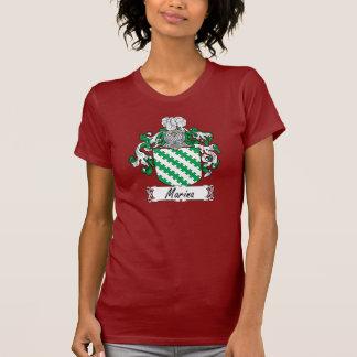 Escudo de la familia del puerto deportivo camiseta