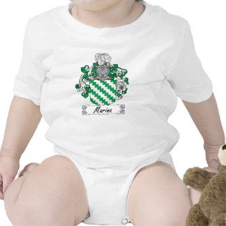 Escudo de la familia del puerto deportivo traje de bebé