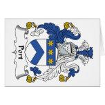 Escudo de la familia del puerto felicitación