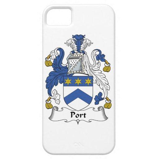 Escudo de la familia del puerto funda para iPhone 5 barely there