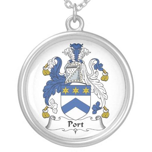 Escudo de la familia del puerto grimpolas