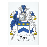 Escudo de la familia del puerto invitacion personalizada