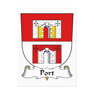 Escudo de la familia del puerto impresiones en lienzo estiradas