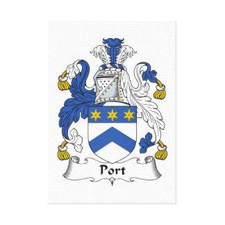 Escudo de la familia del puerto impresión en lienzo estirada