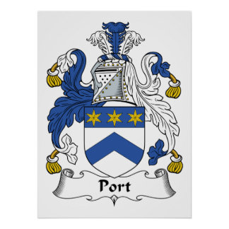 Escudo de la familia del puerto posters
