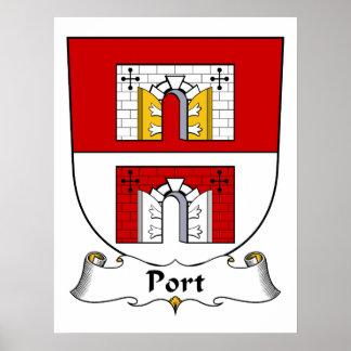 Escudo de la familia del puerto impresiones
