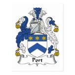 Escudo de la familia del puerto tarjeta postal
