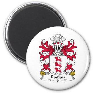 Escudo de la familia del raglán imán redondo 5 cm