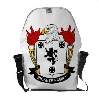 Escudo de la familia del raquitismo bolsa de mensajería