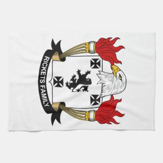 Escudo de la familia del raquitismo toalla