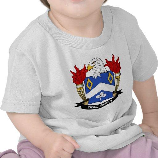 Escudo de la familia del rastro camisetas