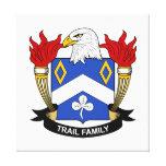 Escudo de la familia del rastro impresión de lienzo