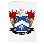 Escudo de la familia del rastro tarjetón