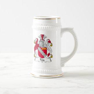 Escudo de la familia del rayo jarra de cerveza