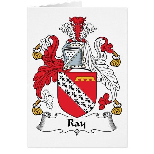 Escudo de la familia del rayo tarjetas