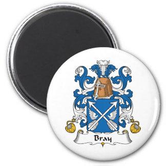 Escudo de la familia del rebuzno imán redondo 5 cm