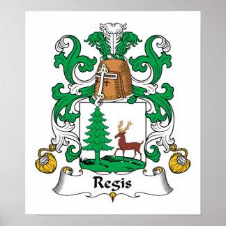 Escudo de la familia del Regis Póster