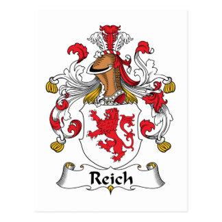 Escudo de la familia del Reich Tarjeta Postal