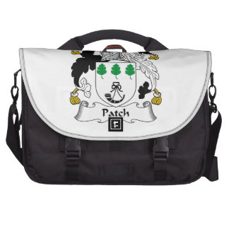 Escudo de la familia del remiendo bolsas para portatil