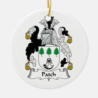 Escudo de la familia del remiendo adorno redondo de cerámica