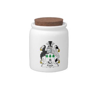 Escudo de la familia del remiendo jarra para caramelo