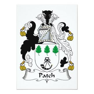 Escudo de la familia del remiendo invitación 12,7 x 17,8 cm