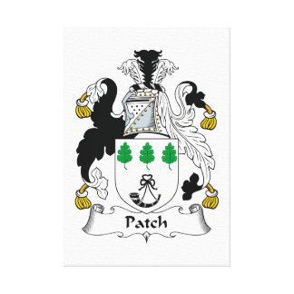 Escudo de la familia del remiendo impresion de lienzo