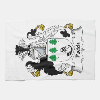 Escudo de la familia del remiendo toallas de cocina