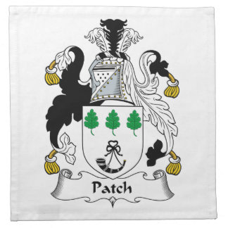 Escudo de la familia del remiendo servilletas imprimidas