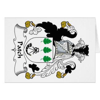 Escudo de la familia del remiendo tarjetas