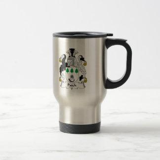 Escudo de la familia del remiendo tazas de café