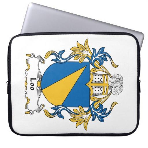 Escudo de la familia del retrete funda portátil