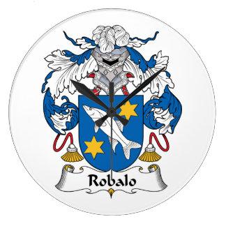 Escudo de la familia del robalo reloj redondo grande
