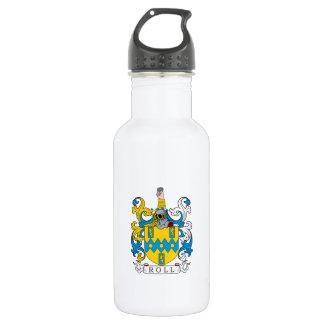 Escudo de la familia del rollo botella de agua de acero inoxidable