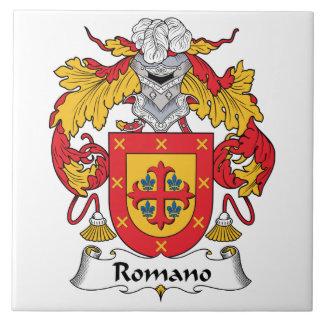 Escudo de la familia del romano azulejo cuadrado grande